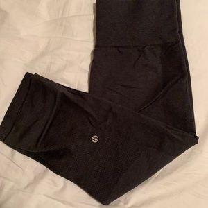 Lululemon Charcoal Gray Crop Leggings